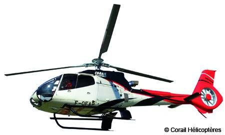 Eurocopter EC130 B4 Helicopter Makes Its Debut On Reunion Island Today
