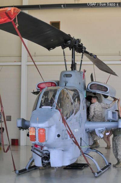 Marine Light Attack Helicopter Squadron 773, the Marine Corps Reserves' only attack helicopter squadron, includes 350 Marines stationed at Robins