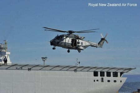 Successful NH90 trial onboard CANTERBURY
