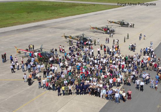 Portuguese Air Force celebrated 50 years flying the Alouette III helicopter