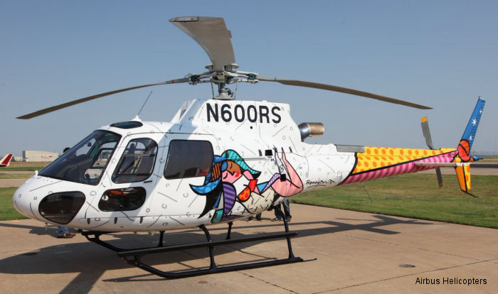 Pop artist Romero Britto makes AS350 B3e a true work of art