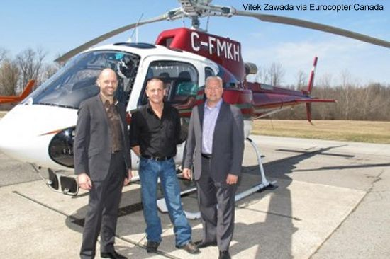 Eurocopter Canada delivers an AS350 B3e to Hy-Ridge Helicopters Ltd.