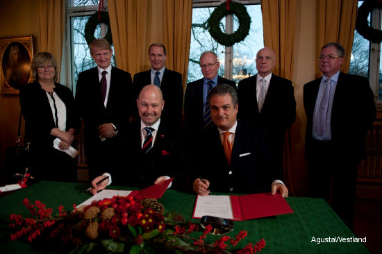AgustaWestland Signs Norwegian All Weather SAR Helicopter Contract For 16 AW101 Helicopters