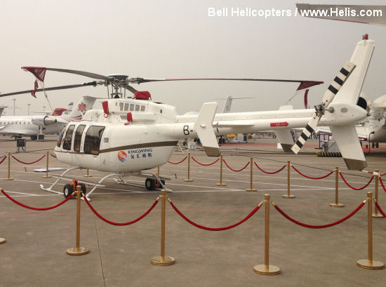Bell 407GX Featured at ABACE 2013: First Commercial Helicopter to Land at Hongqiao