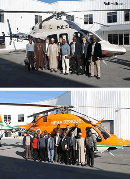 Bell Helicopter Delivers First Bell 429s to Nigeria