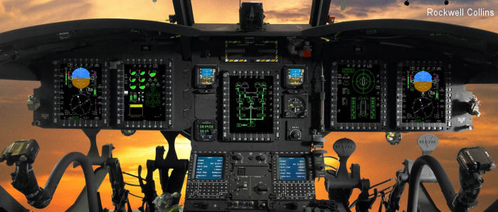 Rockwell Collins CAAS cockpit onboard first Boeing Chinook delivery to Canada