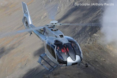 Eurocopter introduces its EC130 T2 and EC145 T2 helicopters to the UK with demonstration flights for private, utility, police and emergency service operators