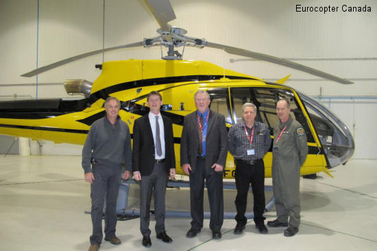 Eurocopter Canada delivers EC130 to Ontario Ministry of Natural Resources
