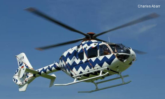 "Eurocopter presents a ""collectable"" art helicopter at the Monaco Yacht Show based on the twin-engine EC135"
