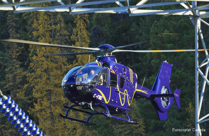 Eurocopter Canada demonstrates the EC135 at the HAC