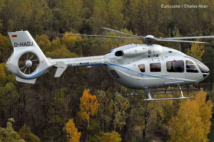 Eurocopter launches the law enforcement version of its EC145 T2 helicopter with an order from Germany Baden Württemberg police