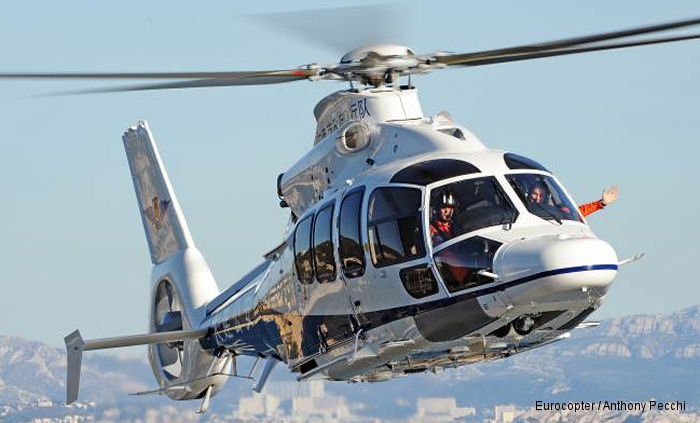 Eurocopter delivers the second EC155 B1 to the Dalian Municipality for security, rescue, fire-fighting and transportation missions