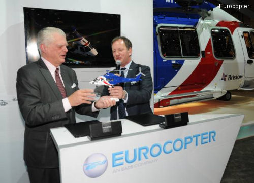 Bristow stands behind the EC175 with a signature for 12 aircraft