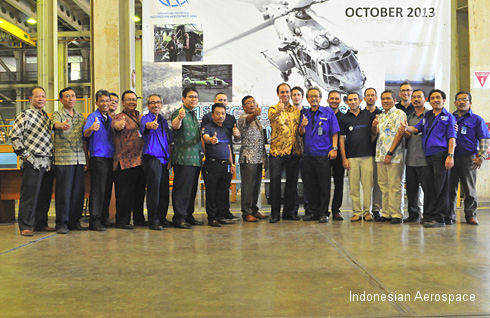 Eurocopter receives first main fuselage assembly produced by Indonesian Aerospace for EC725 and EC225 helicopters