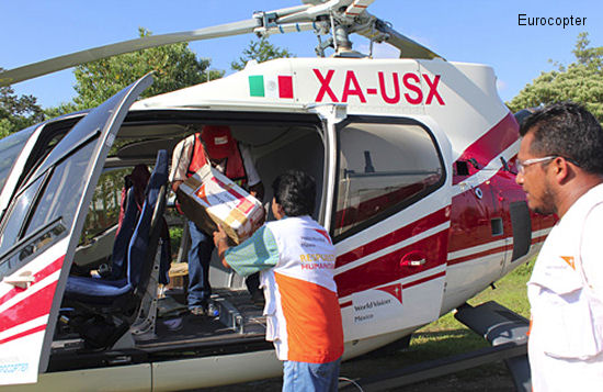 The Eurocopter Foundation Joins Forces with NGO World Vision Mexico to Provide Support in Zones Affected by the Recent Catastrophes in Mexico