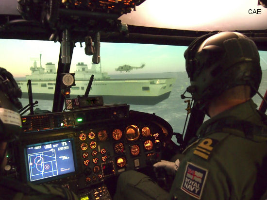 Royal Navy Lynx Mk8 full-mission simulator now ready-for-training with new CAE Medallion-6000 visual system