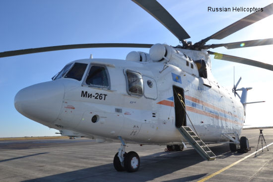 Mi-26T, world's heaviest civilian helicopter, enters service in Kazakhstan for first time
