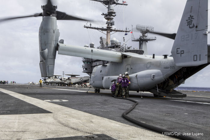 USS George Washington provides Ospreys expeditious refueling point
