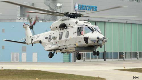 The first of four NH90 NFH, in Step B variant, ordered by the Belgian Air Component performed its first flight at Eurocopter Germany Donauwörth facility