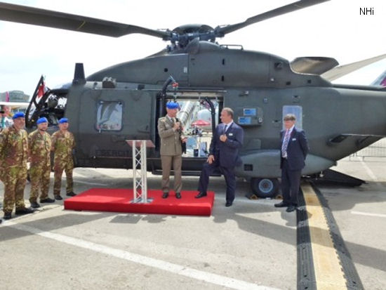 NHI celebrates the first deployment of an Italian Army NH90