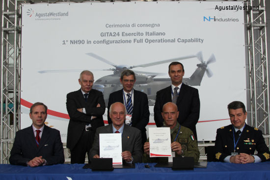Italian Army Takes Delivery of Its First NH90 TTH Helicopter in FOC Configuration