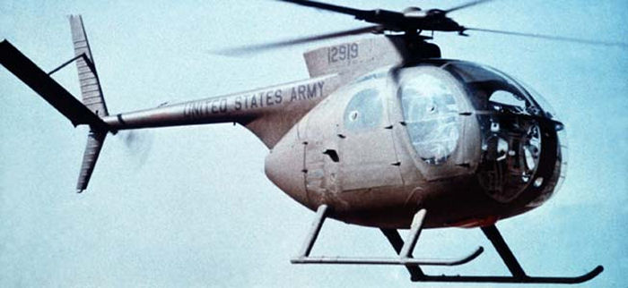 The first Hughes OH-6 Cayuse light-observation helicopter (LOH) prototype  first flew on February 27, 1963, beginning a rich heritage as the most heralded and versatile scout helicopter in the world