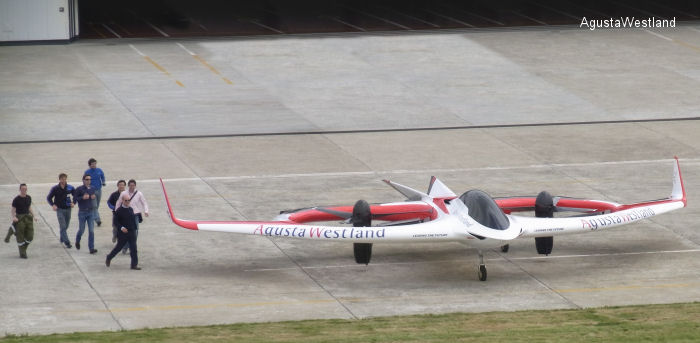 "AgustaWestland Unveils Revolutionary ""Project Zero"" Tilt Rotor Technology Demonstrator"