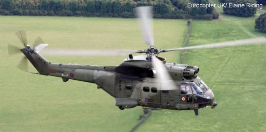Eurocopter UK receives contract to support the 24 Royal Air Force Puma Mk2 helicopters it is upgrading for the UK Ministry of Defence
