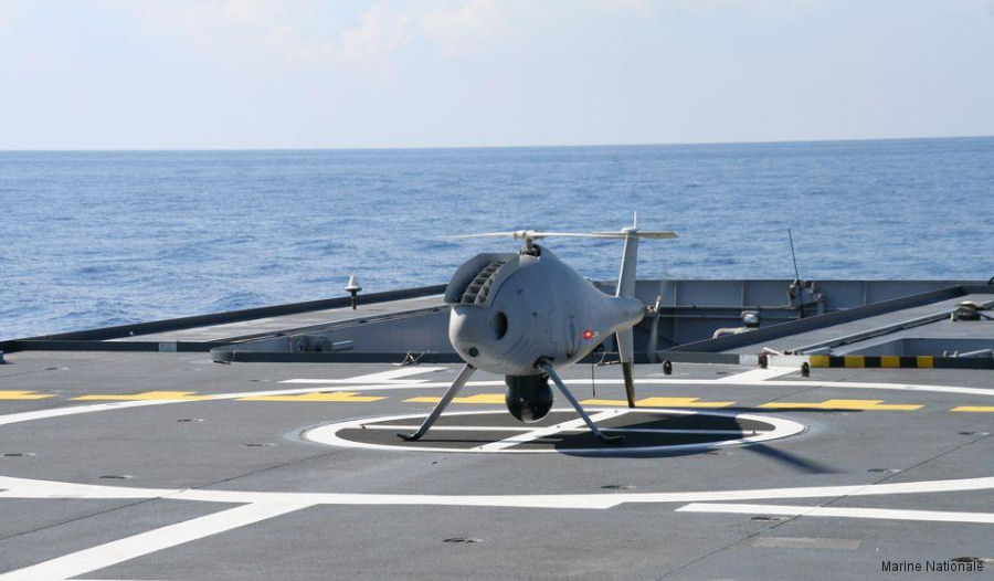 French Navy continue testing of its Système Embarqué de Reconnaissance Vecteur Aérien Léger (SERVAL) with Schiebel Camcopter S-100 drone aboard their new OPV (Offshore Patrol Vessel) L´Adroit
