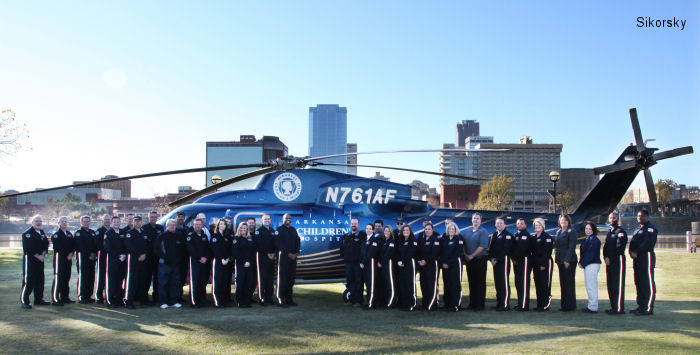Arkansas Children Hospital to Add Two S-76D Helicopters to Angel One Transport Unit