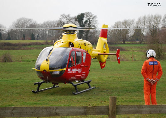 The Thames Valley and Chiltern Air Ambulance (TVACAA) reached its 14,000th mission
