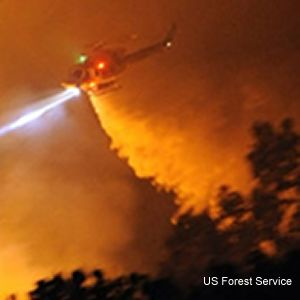 US Forest Service adds night-flying helicopter to its suppression efforts in California