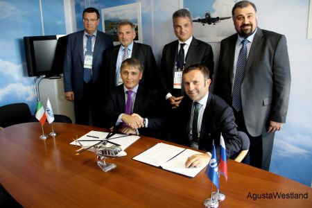 AgustaWestland and UTair Sign Service Centre Agreement  at MAKS 2013