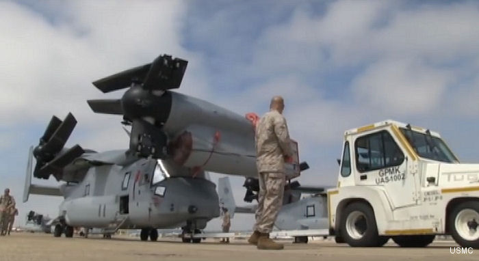 VMM-363 Loads and Stows ospreys for Okinawa Japan phase 3