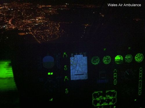 Wales Air Ambulance makes historic first night flight