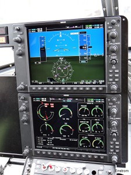 Enstrom obtains certification of Garmin G1000H integrated flight deck