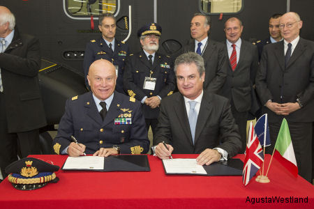 AgustaWestland and Italian Air Force Sign Letter of Intent for Training