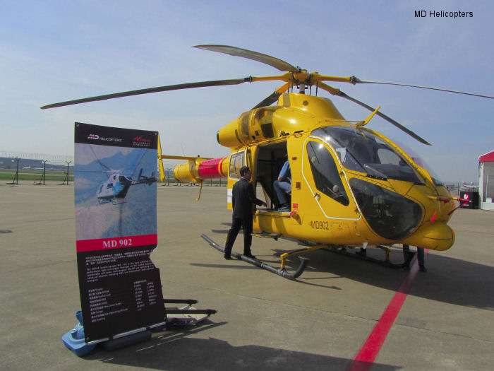 MD Helicopters marks 15 years of activity In Asia Debuts Chinese registered MD 902 at ABACE 2014