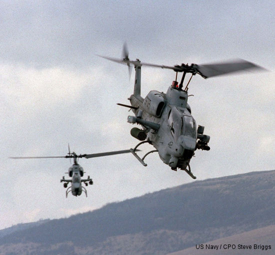 Elbit Systems of America Awarded Two Contracts to Upgrade Marine Corps AH-1W Attack Helicopters