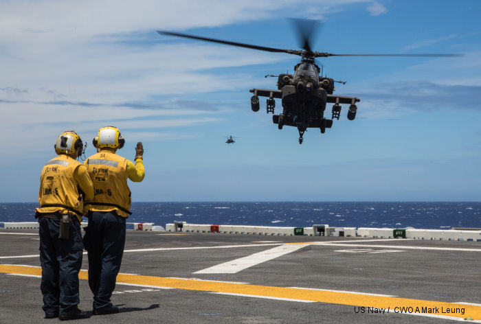 Apache Guardians perform first deck landing qualifications