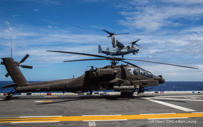 AH-64E perform first deck landing qualifications