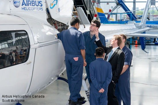 Airbus Helicopters donates vital training aid to BCIT aerospace facility