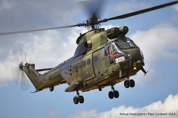 UK <a href=/database/modelorg/192/>Royal Air Force Puma</a>  refurbished and overhauled by Eurocopter Romania