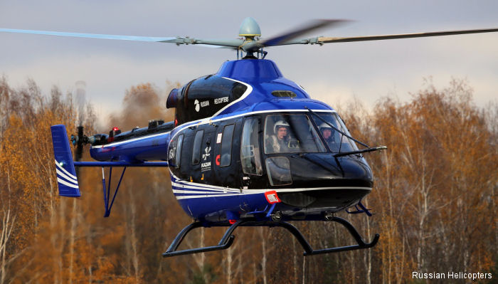 Ansat new light helicopter with hydro-mechanical controls has received additional certification from the Aviation Register of the Interstate Aviation Committee (AR IAC)