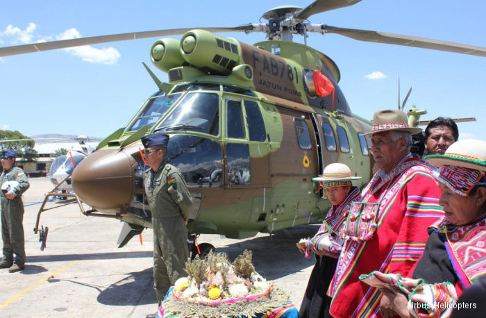 Airbus Helicopters delivered the 2nd AS332C1e Super Puma to the Bolivian Air Force (FAB). Six