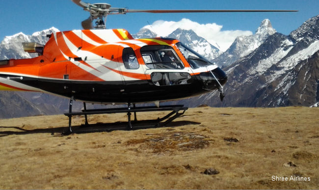 Nepal Shree Airlines expands its Airbus Helicopters fleet with the delivery of a new AS350 B3e rotorcraft