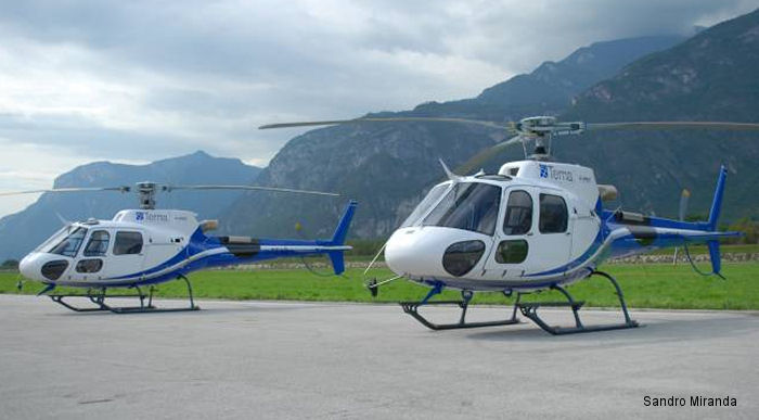 Italian electrical transmission grid operator Terna has taken delivery of two Airbus Helicopters AS350B3e rotorcraft to perform surveillance and maintenance support for power lines that deliver electricity throughout the country.