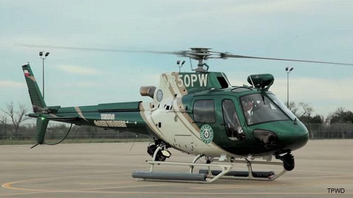 Texas Parks And Wildlife Dept Unveils New As350b3e