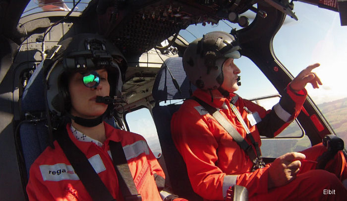 Elbit Systems Performs Successful Demonstration Flights Using SkyVis Onboard Swiss Air-Rescue Rega AW109SP Helicopter