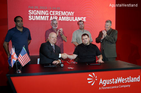 Summit Air Ambulance Signs Contract for Two AW119Kx Helicopters